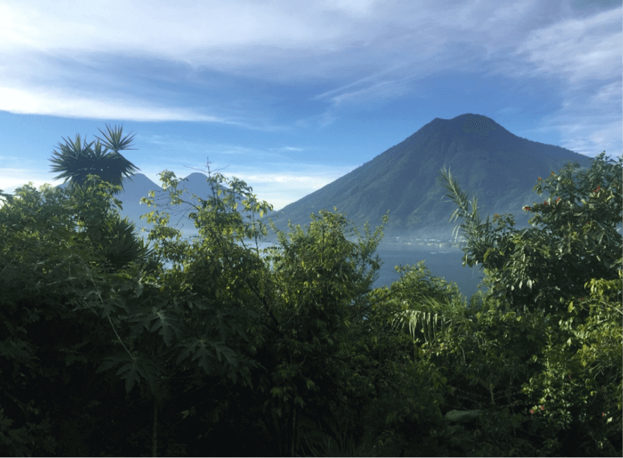 large mountain in Guatemala near jungle