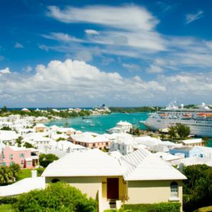overlooking city of Bermuda and port