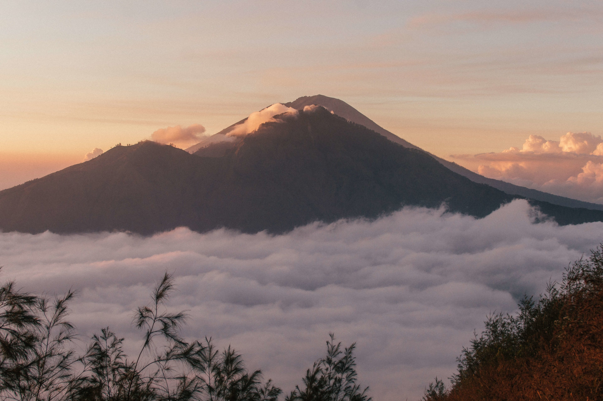 A beautiful mountain at sunrise.