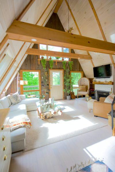 inside an a frame house