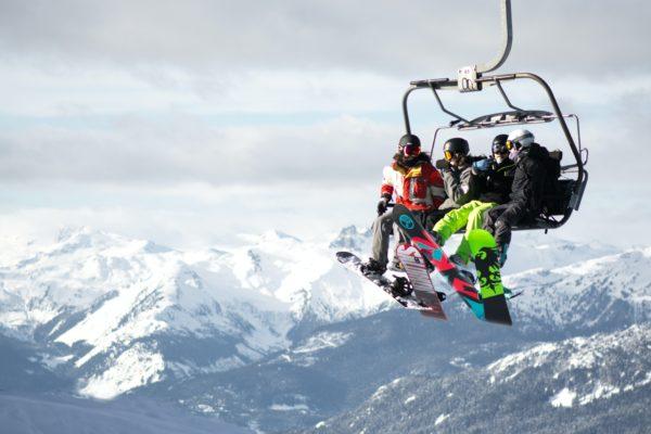 Ski lift in Whistler, Canada