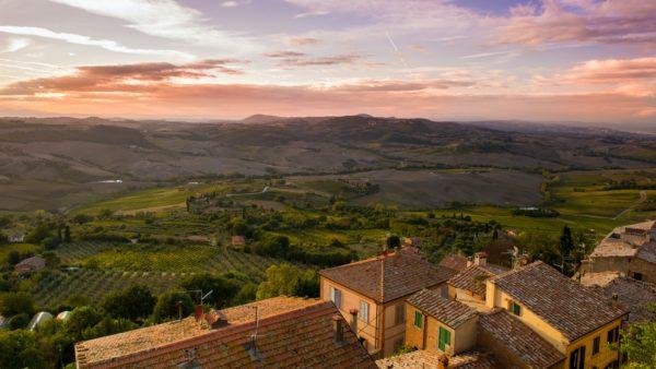 overlook of Italy