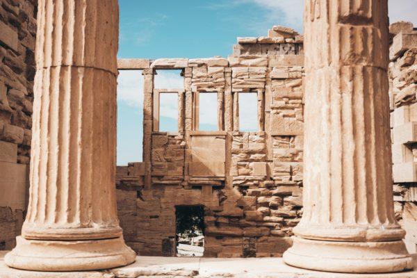 pillars in athens