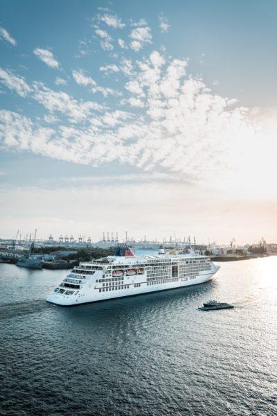 cruise ship in hamburg, germany