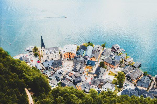 beautiful scenery of village in Austria