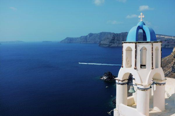 overlooking greece waters