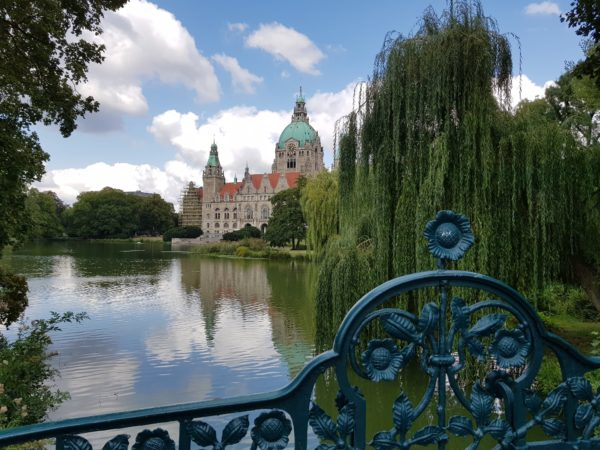 hannover, germany overlooking a lake