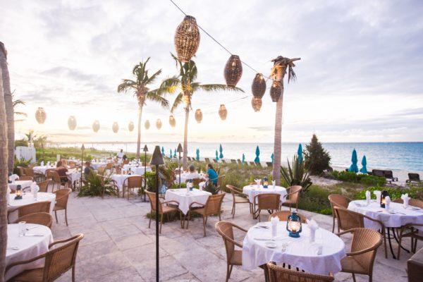 turks and caicos restaurant facing the ocean